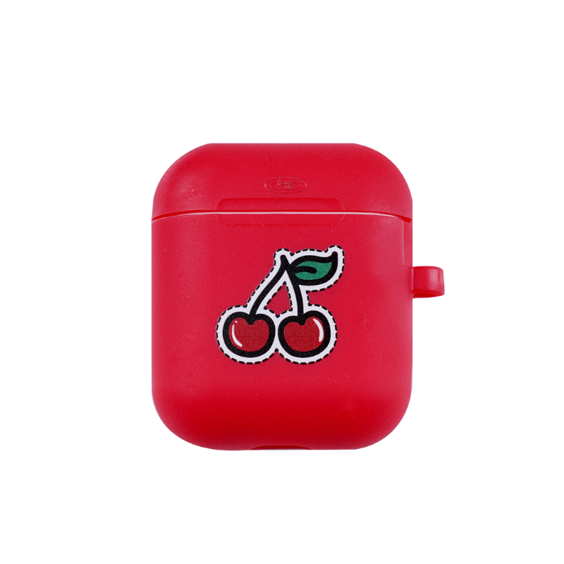 cherry cherry Airpods Silicon Case