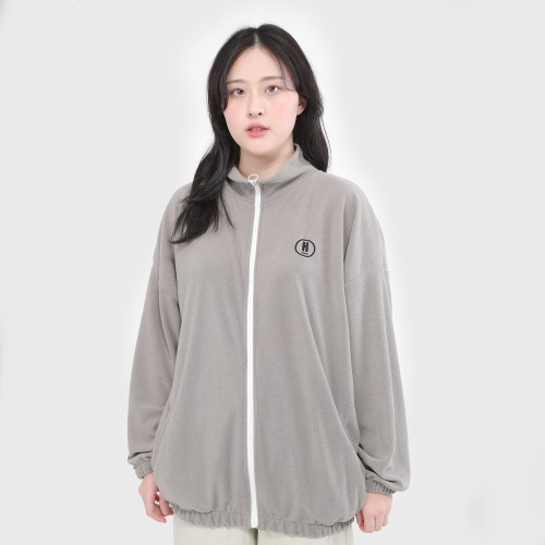 H LOGO BASIC FURIS OVER ZIP UP [GRAY]