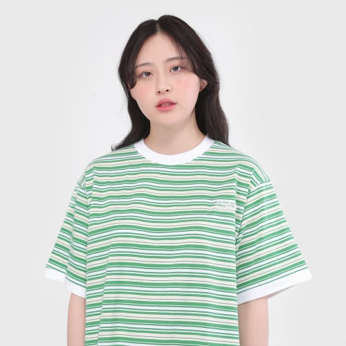 Candy Rubber Logo Candy stripes T-SHIRTS (Green)